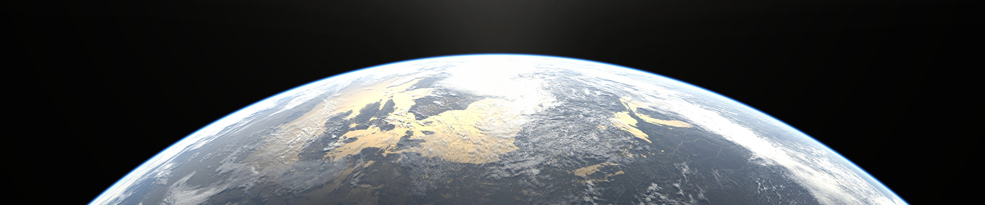 Earth horizon from space